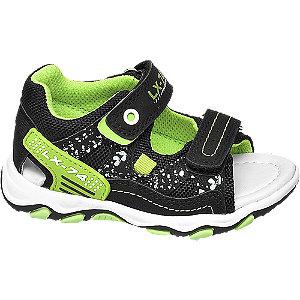 Levně Černé dětské sandálky Bobbi-Shoes
