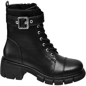 Levně Černá dívčí kotníková obuv Graceland se zipem