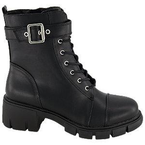 Levně Černá dívčí kotníková obuv se zipem Graceland