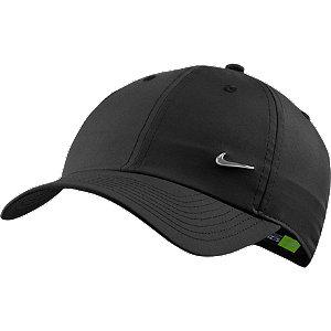 Levně Černá kšiltovka Nike Metal Swoosh Cap