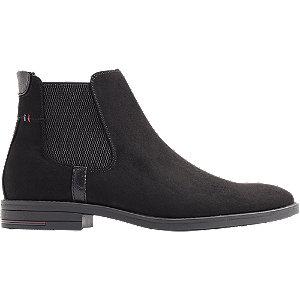 Levně Černá kožená Chelsea kotníková obuv Venice