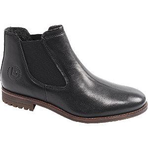 Levně Černá kožená Chelsea obuv Bugatti