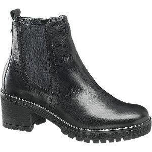 Levně Černá kožená Chelsea obuv 5th Avenue