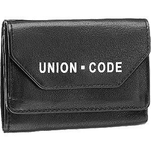 Levně Černá kožená dámská peněženka Union Code