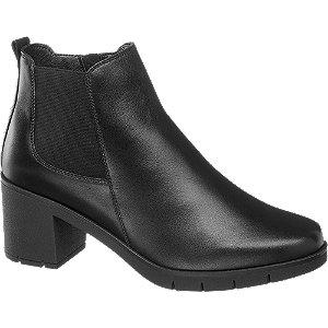Levně Černá kožená komfortní Chelsea obuv Medicus