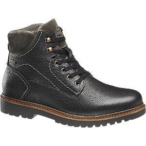 Levně Černá kožená komfortní kotníková obuv Gallus s TEX membránou