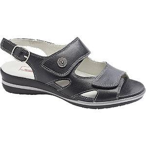 Levně Černé kožené komfortní sandály Medicus