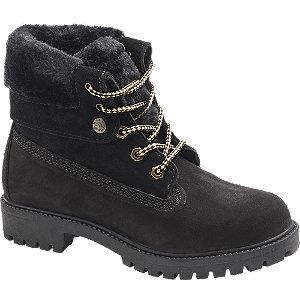 Levně Černá kožená šněrovací obuv Landrover