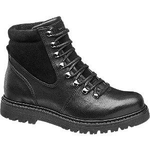 Levně Černá kožená šněrovací obuv Wojas
