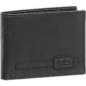 Levně Černá kožená pánská peněženka Gallus