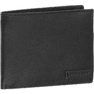 Levně Černá kožená pánská peněženka Union Code