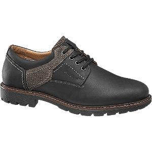Levně Černé kožené polobotky AM Shoe