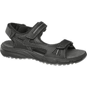 Levně Černé kožené sandály Gallus