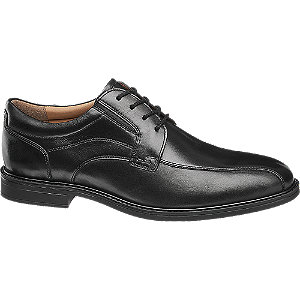 Levně Černá kožená společenská obuv Claudio Conti
