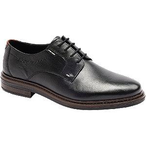 Levně Černá kožená spoločenská obuv Claudio Conti