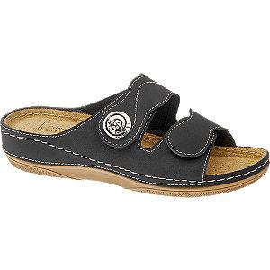Levně Černé komfortní pantofle Easy Street