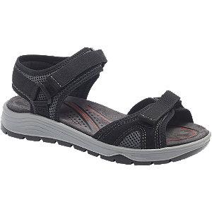 Levně Černé komfortní sandály na suchý zip Easy Street