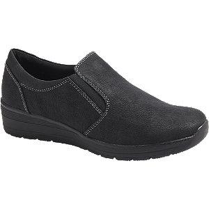 Levně Černá komfortní slip-on obuv Easy Street