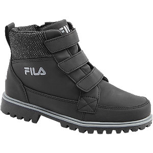 Levně Černá kotníková obuv Fila se zipem