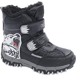 Levně Černá kotníková obuv na suchý zip Kappa s TEX membránou