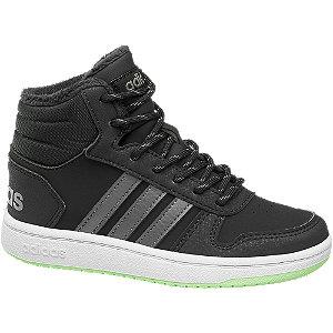 Levně Černé kotníkové tenisky Adidas Hoops Mid 2.0