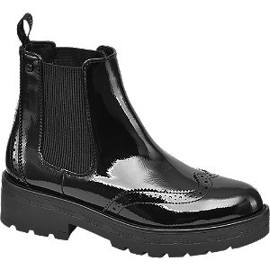 Levně Černá lakovaná Chelsea obuv Esprit