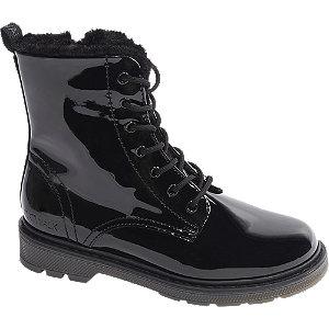 Levně Černá lakovaná šněrovací obuv Catwalk