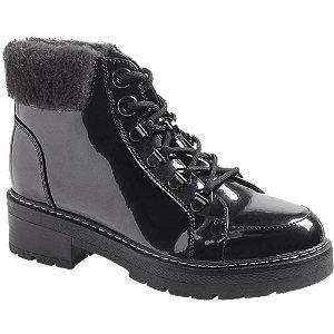 Levně Černá lakovaná šněrovací obuv Landrover