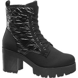 Levně Černá šněrovací obuv Catwalk se zipem