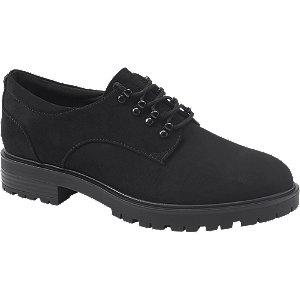 Levně Černá šněrovací obuv Graceland