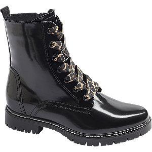 Levně Černá šněrovací obuv Graceland se zipem