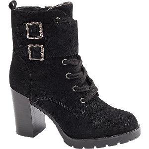 Levně Černá šněrovací obuv se zipem Catwalk