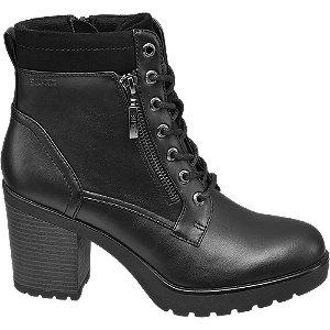 Levně Černá šněrovací obuv se zipem Esprit