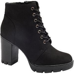 Levně Černá šněrovací obuv se zipem Graceland