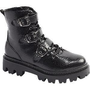 Levně Černá šněrovací obuv se zipem Vero Moda