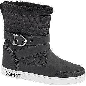 Levně Černé nízké kozačky Esprit