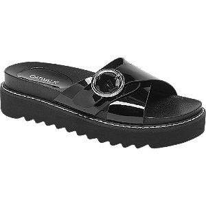 Levně Černé pantofle Catwalk