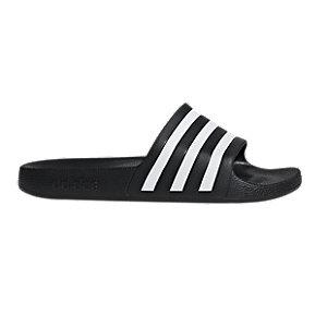 Levně Černé plážové pantofle Adidas Adilette Aqua