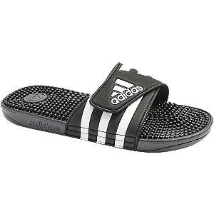 Levně Černé plážové pantofle Adidas Adissage