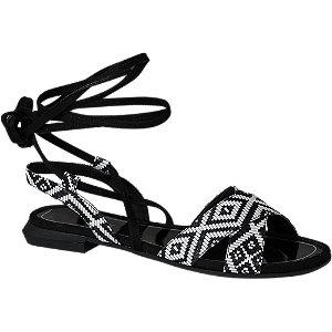 Levně Černé sandály Catwalk