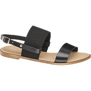 Levně Černé sandály Claudia Ghizzani