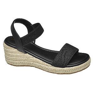 E-shop Černé sandály na klínovém podpatku Graceland