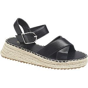Levně Černé sandály na platformě Graceland