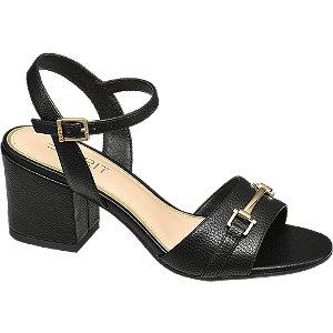 Levně Černé sandály na podpatku Esprit