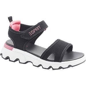 Levně Černé sandály na suchý zip Esprit