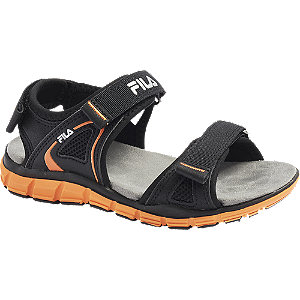 Levně Černé sandály na suchý zip Fila