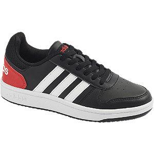 Levně Černé tenisky Adidas Hoops 2.0 K
