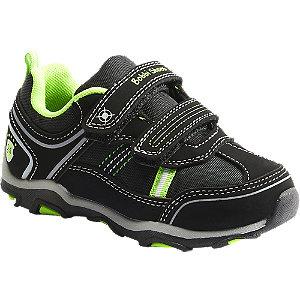 Levně Černé tenisky na suchý zip Bobbi-Shoes