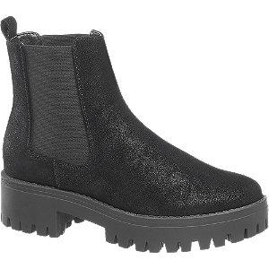 Levně Černá třpytivá Chelsea obuv Catwalk