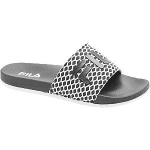 Levně Černo-bílé pantofle Fila